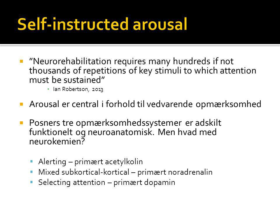 Self-instructed arousal