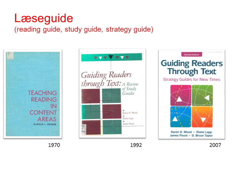 Læseguide (reading guide, study guide, strategy guide)