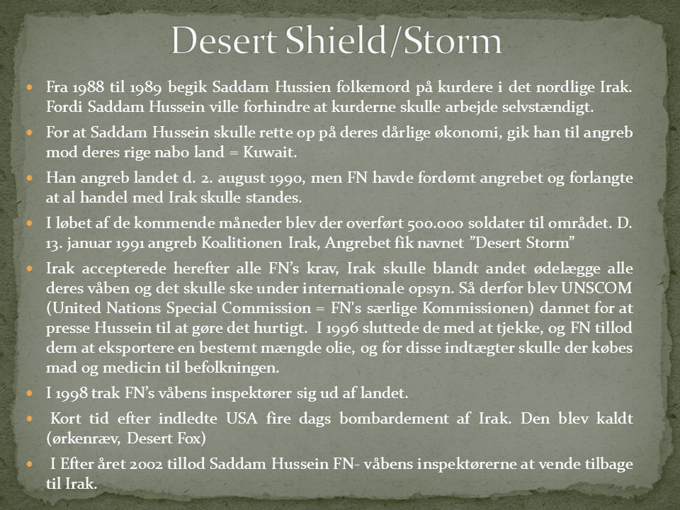 Desert Shield/Storm