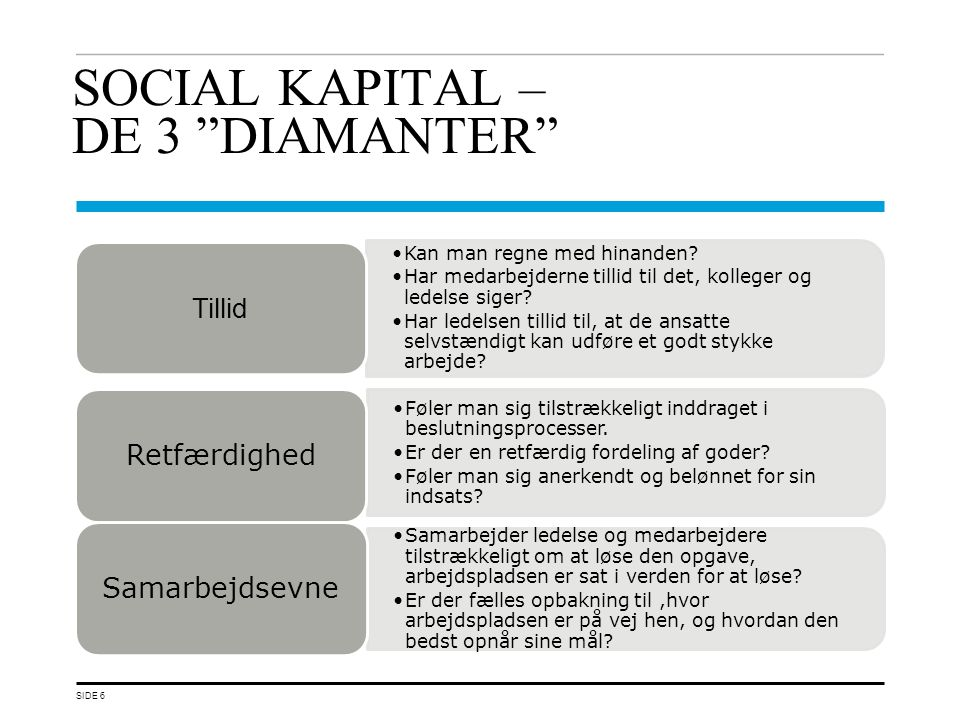 SOCIAL KAPITAL – DE 3 DIAMANTER