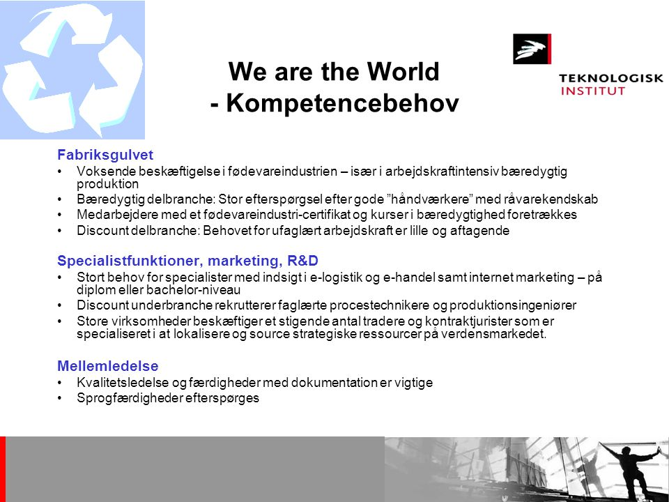 We are the World - Kompetencebehov