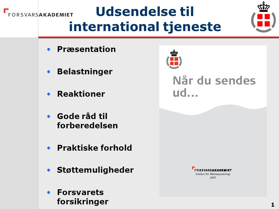 Udsendelse til international tjeneste