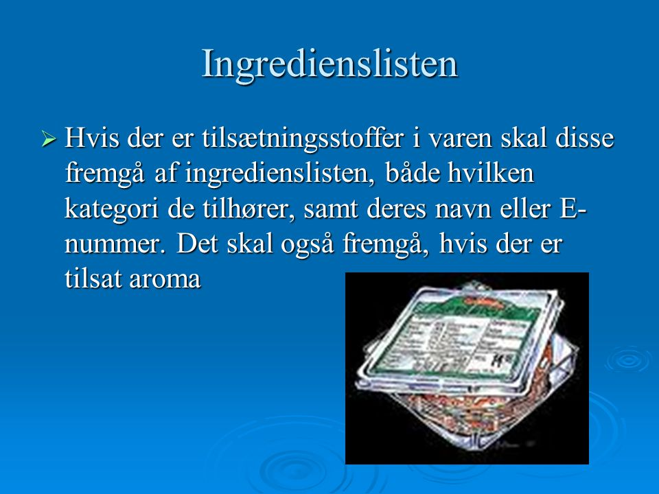 Ingredienslisten