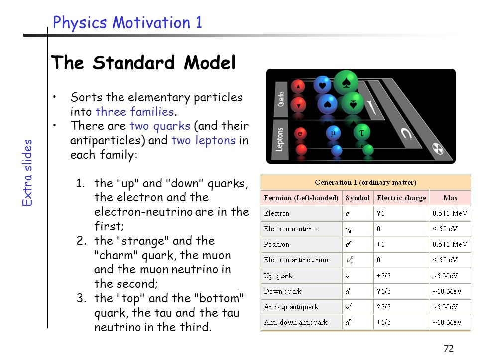 The Standard Model Physics Motivation 1