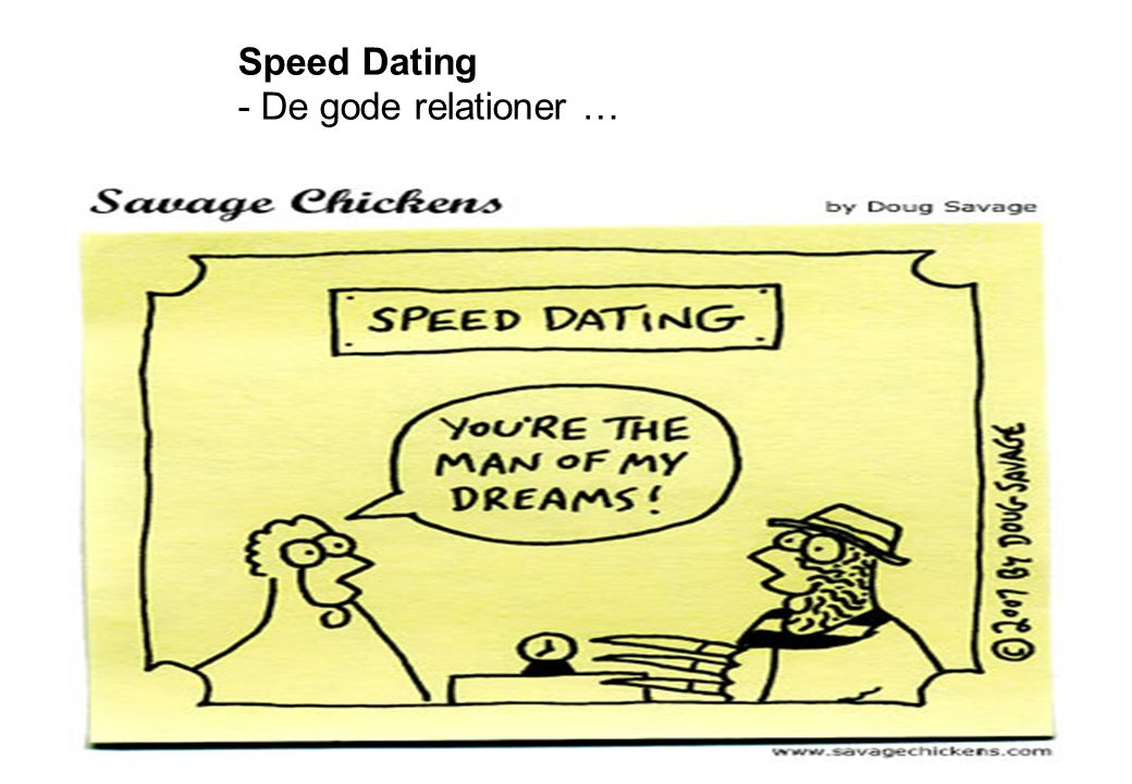 Speed Dating - De gode relationer …