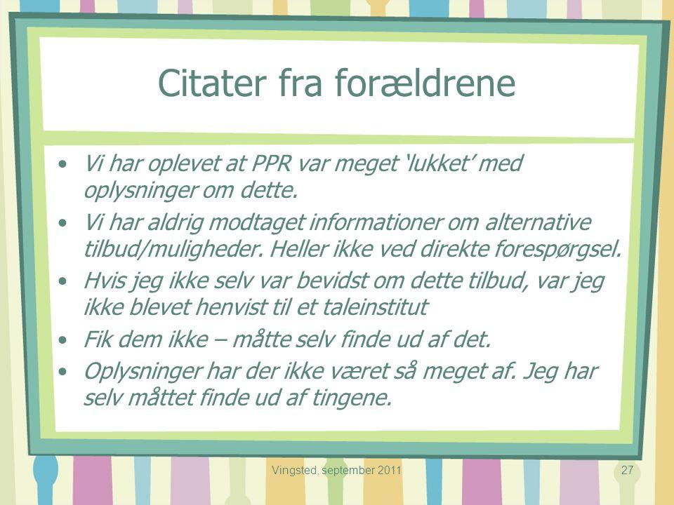 citater til forældre TALEHANDICAPPEDE BØRNS RETTIGHEDER   ppt video online download citater til forældre