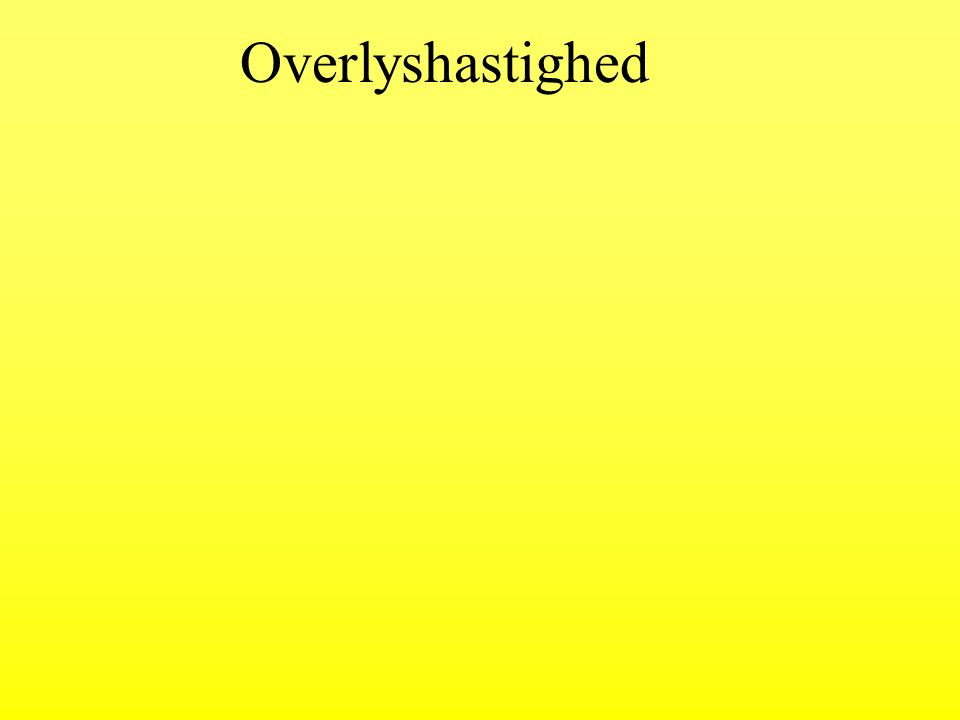 Overlyshastighed