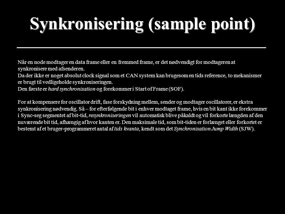 Synkronisering (sample point)