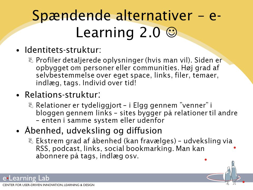 Spændende alternativer – e-Learning 2.0 
