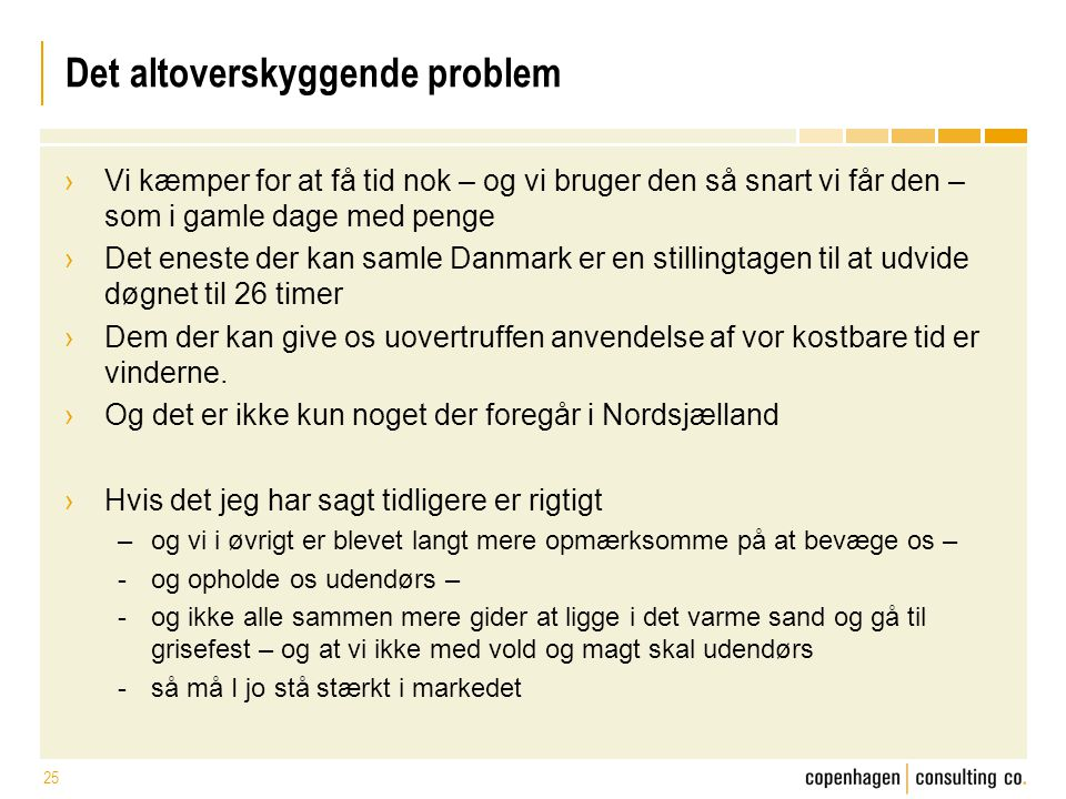 Det altoverskyggende problem