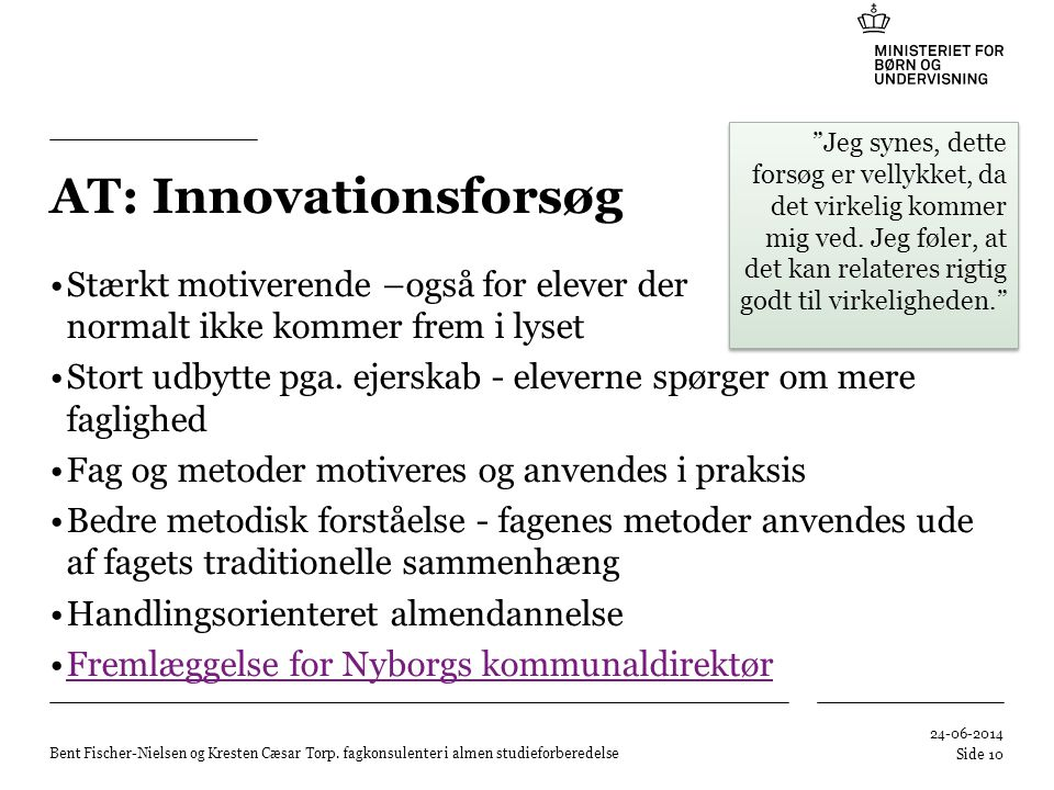 AT: Innovationsforsøg