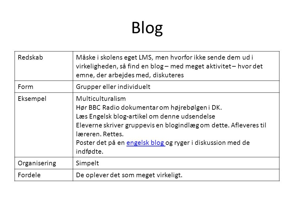 Blog Redskab.