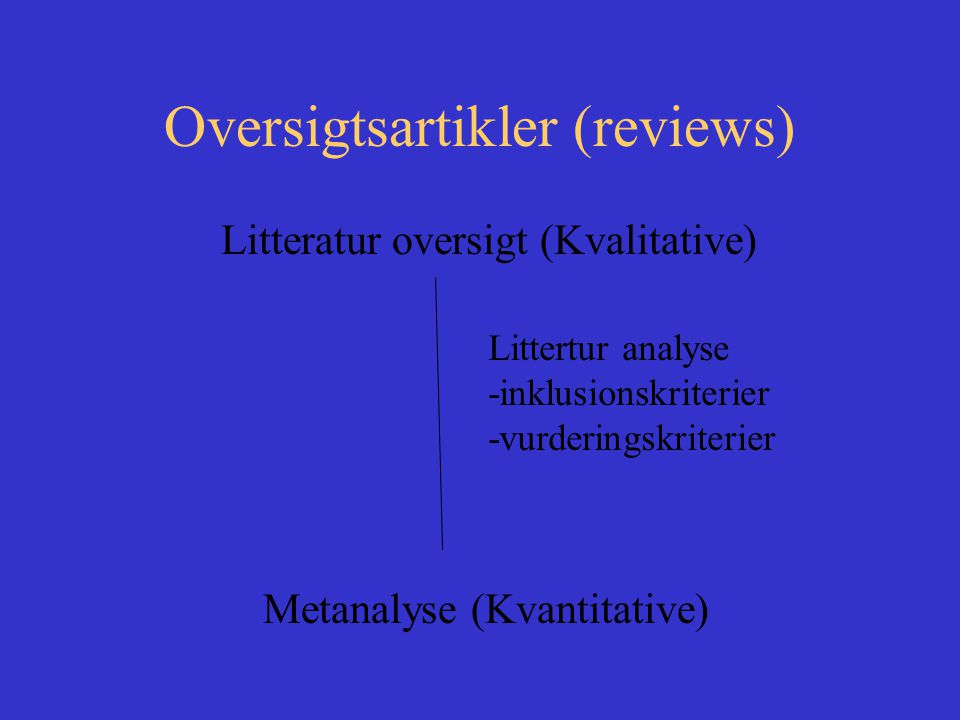 Oversigtsartikler (reviews)