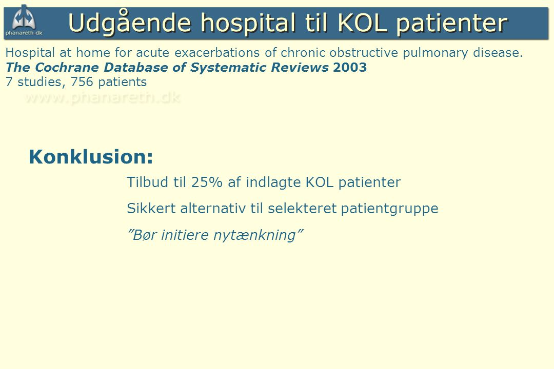Udgående hospital til KOL patienter