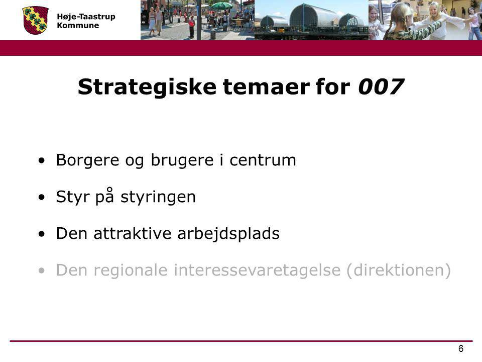Strategiske temaer for 007