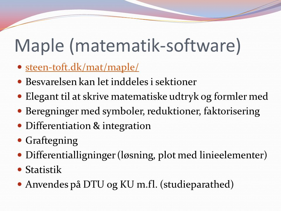 Maple (matematik-software)