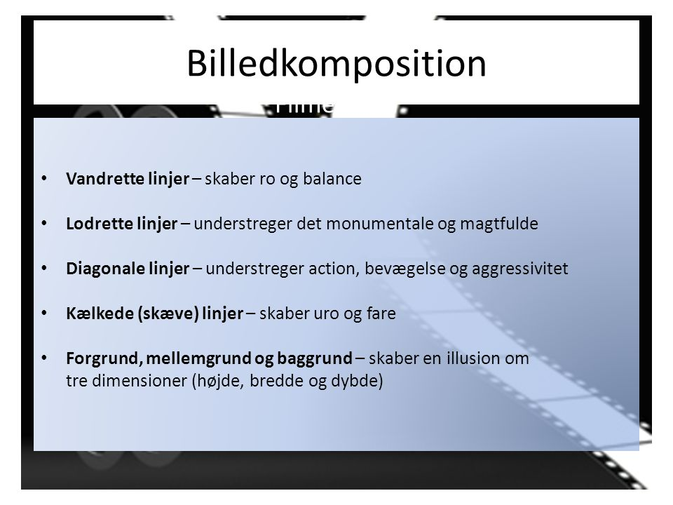 Billedkomposition Filmens stil
