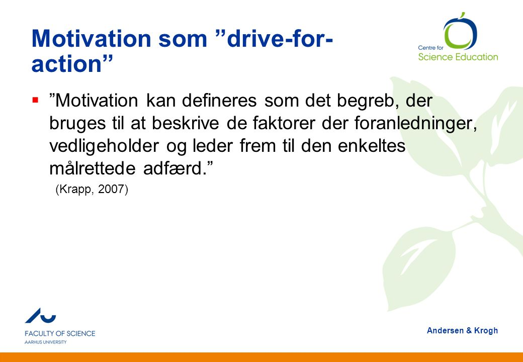 Motivation som drive-for-action