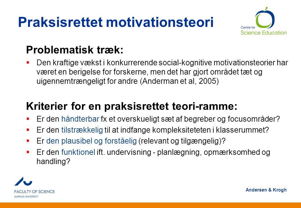 Praksisrettet motivationsteori