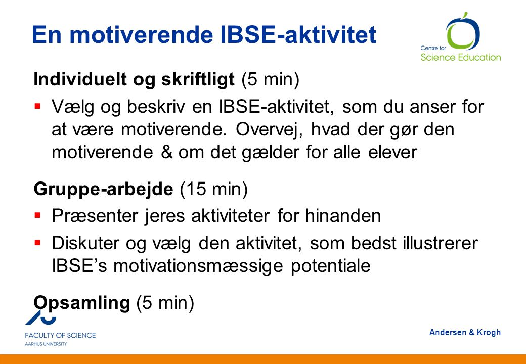 En motiverende IBSE-aktivitet