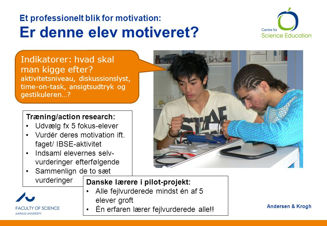Et professionelt blik for motivation: Er denne elev motiveret