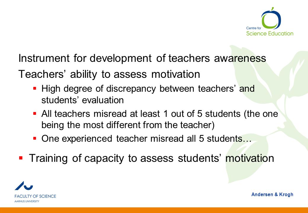 Instrument for development of teachers awareness