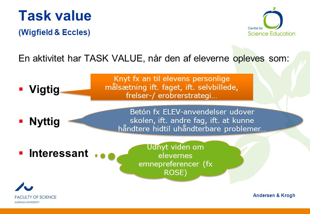 Task value (Wigfield & Eccles)