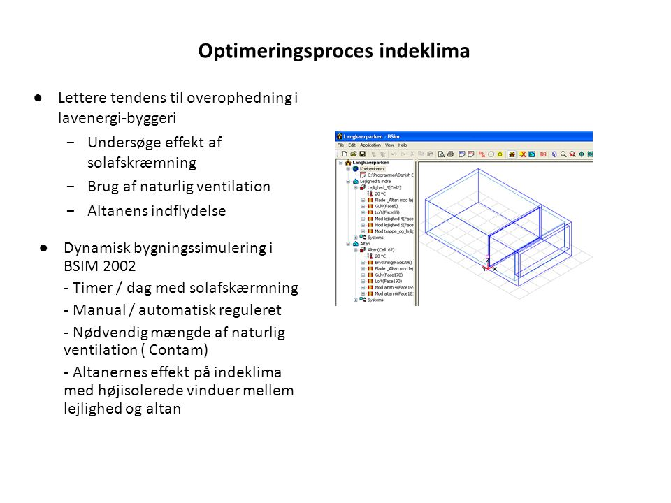 Optimeringsproces indeklima