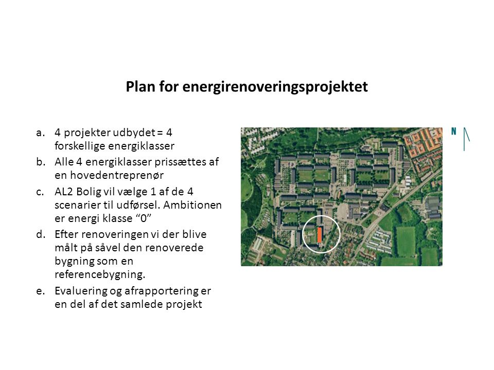 Plan for energirenoveringsprojektet
