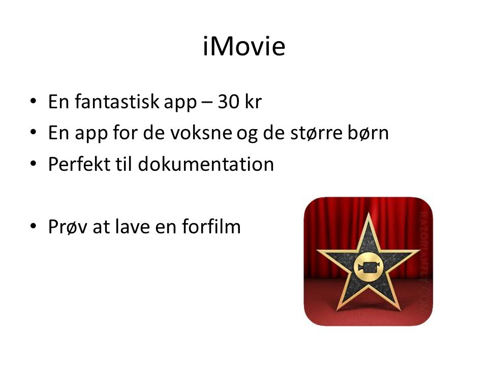 iMovie En fantastisk app – 30 kr