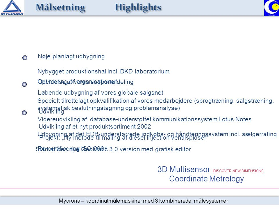 Målsetning Highlights