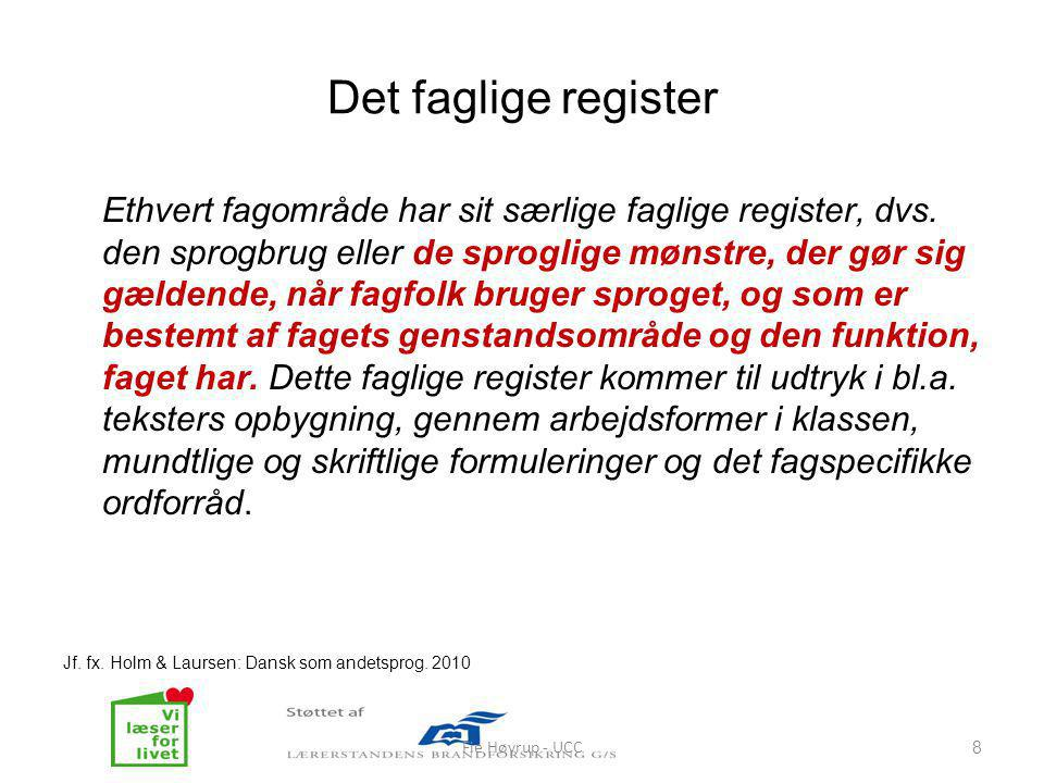 Det faglige register