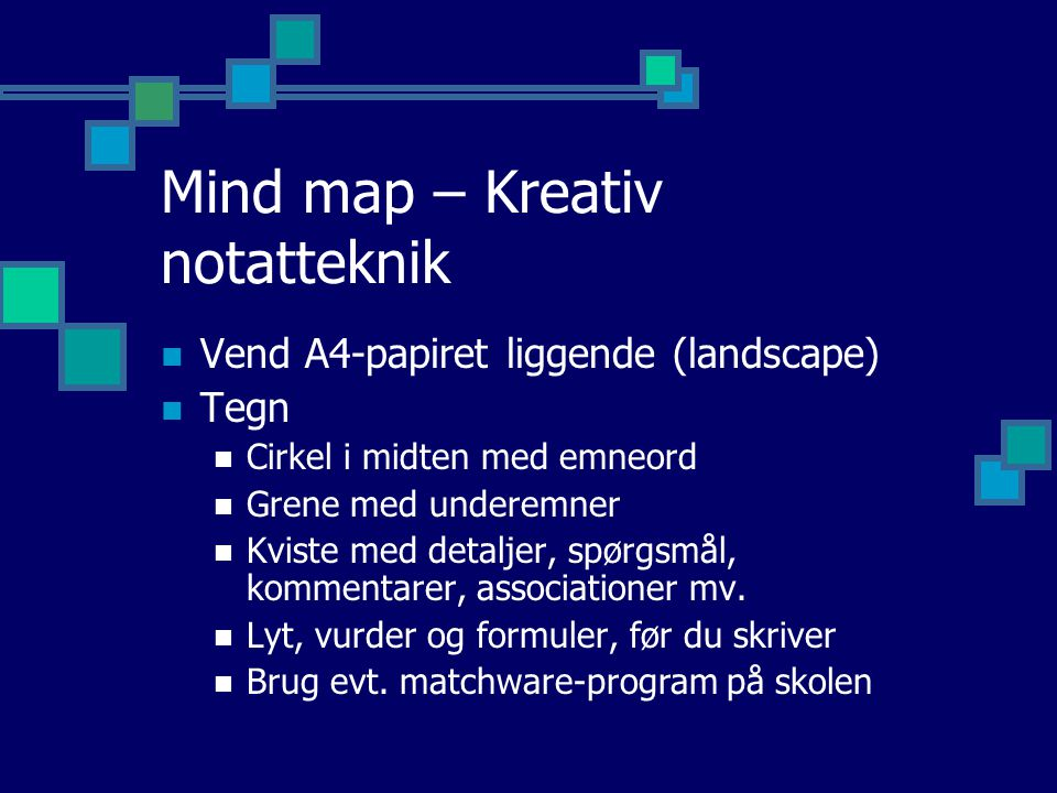 Mind map – Kreativ notatteknik