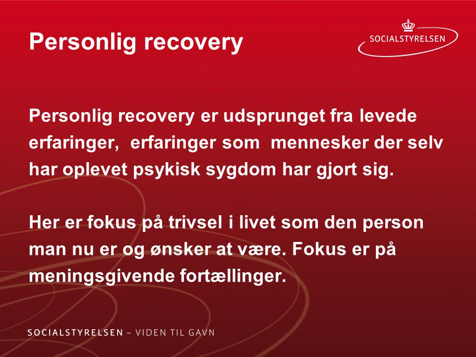 Personlig recovery