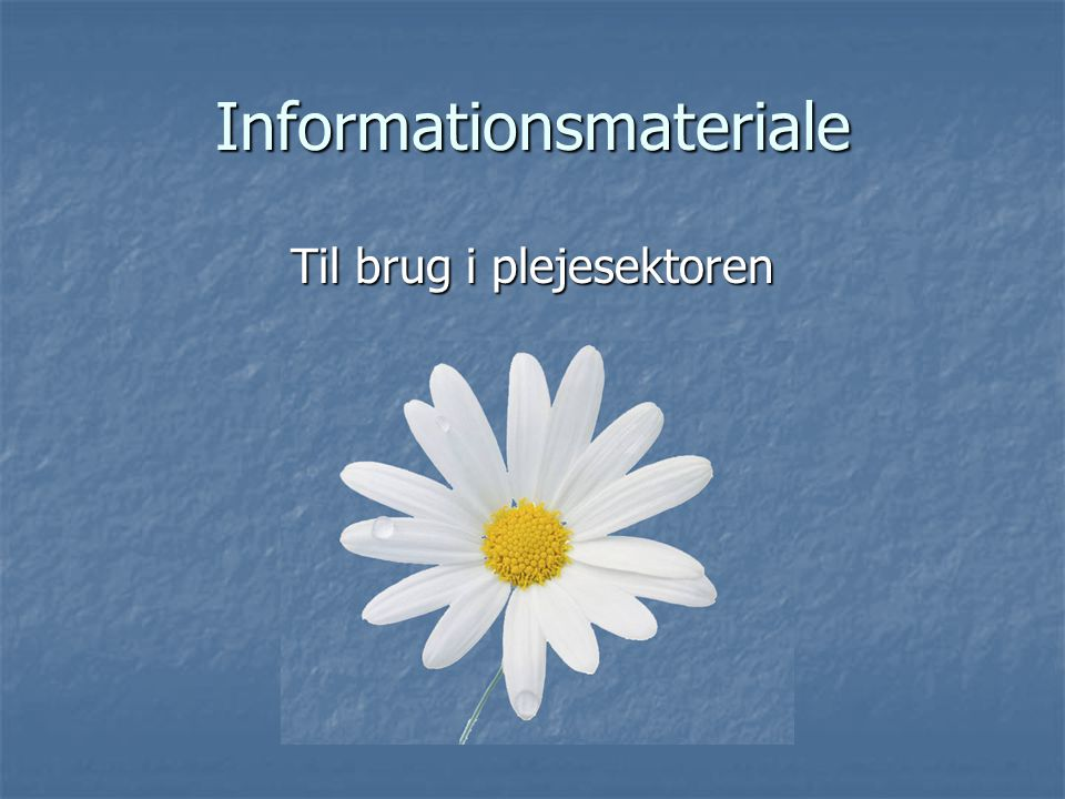Informationsmateriale