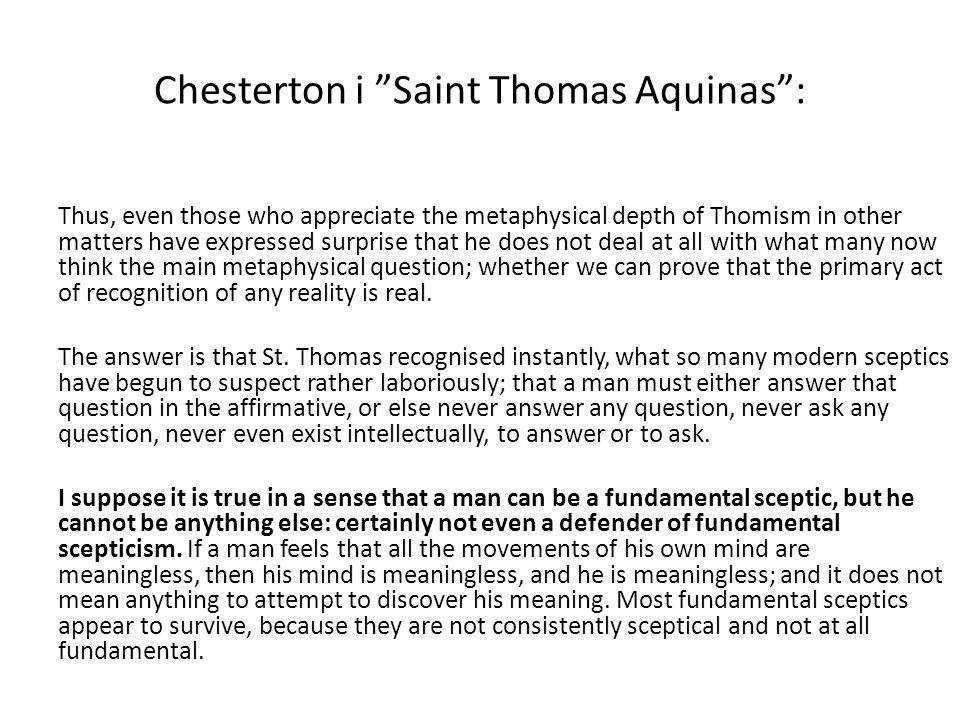 Chesterton i Saint Thomas Aquinas :