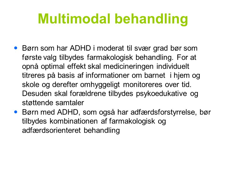 Multimodal behandling