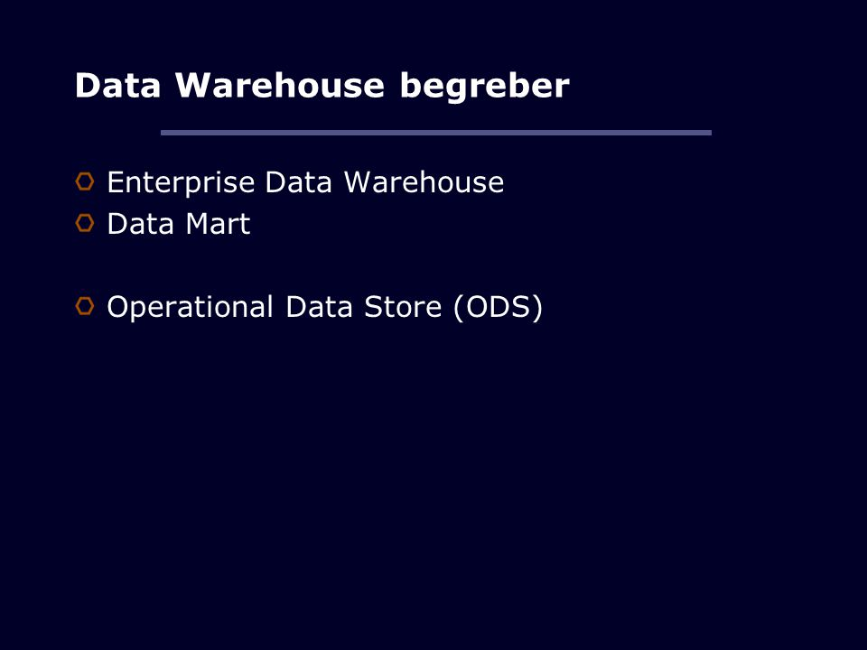 Data Warehouse begreber