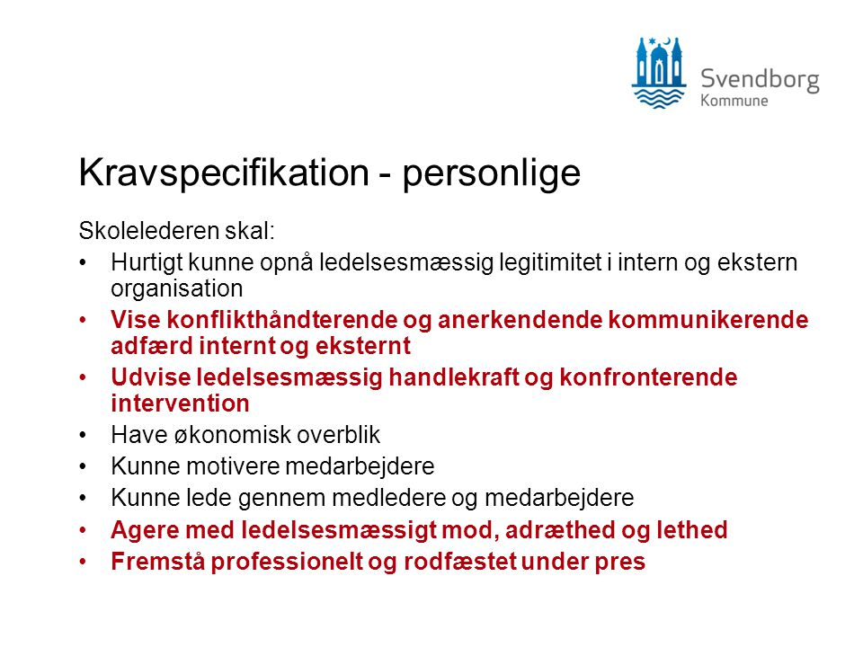 Kravspecifikation - personlige