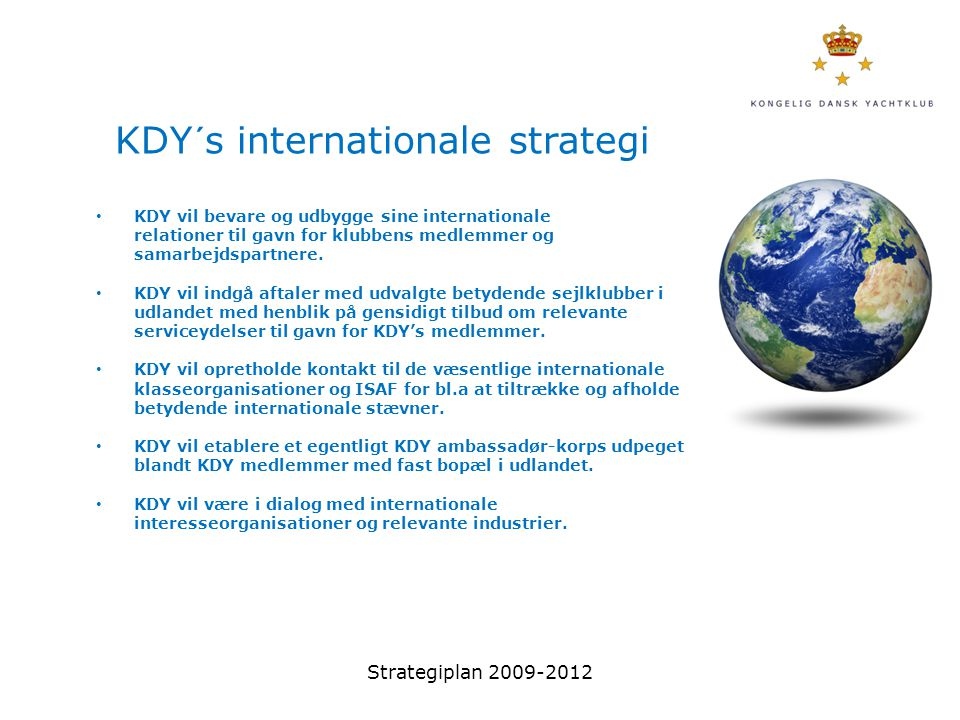 KDY´s internationale strategi