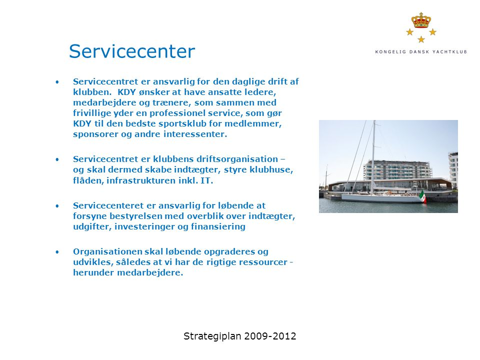Servicecenter Strategiplan 2009-2012