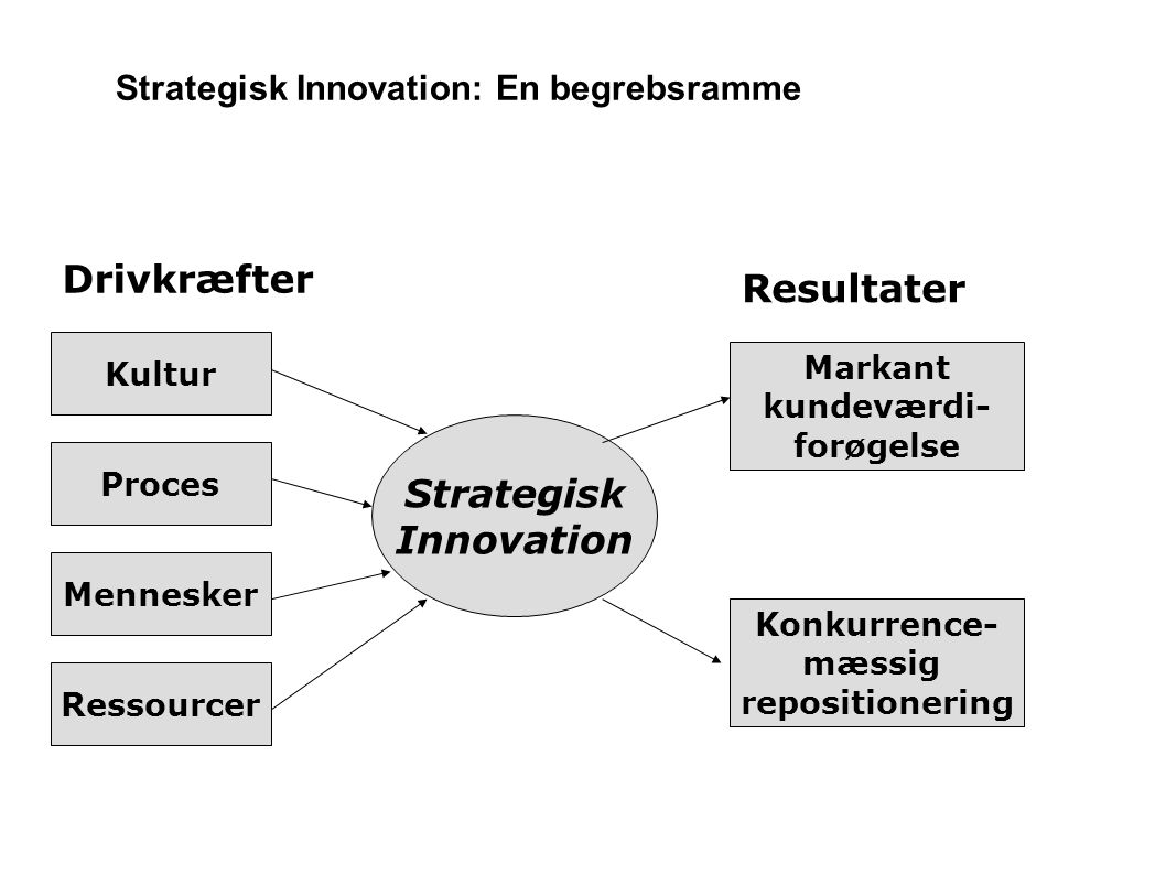 Strategisk Innovation: En begrebsramme