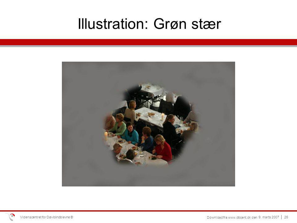 Illustration: Grøn stær