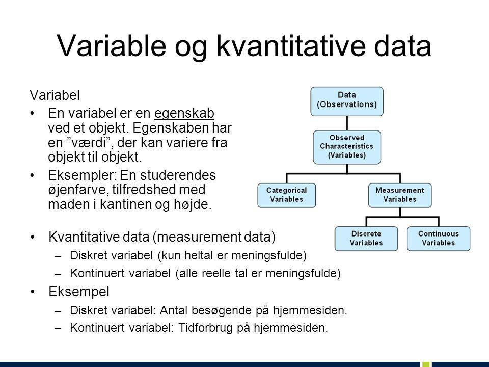 Variable og kvantitative data