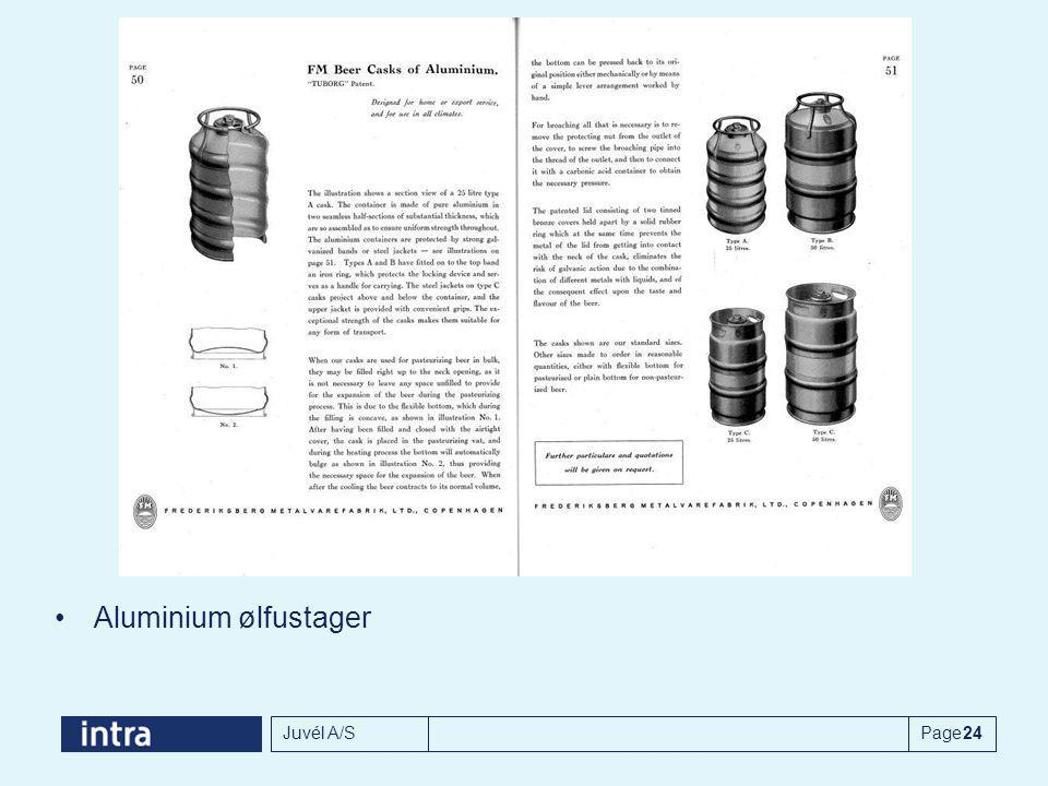 Aluminium ølfustager Juvél A/S Page 24