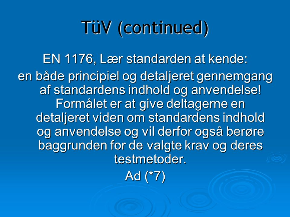 EN 1176, Lær standarden at kende: