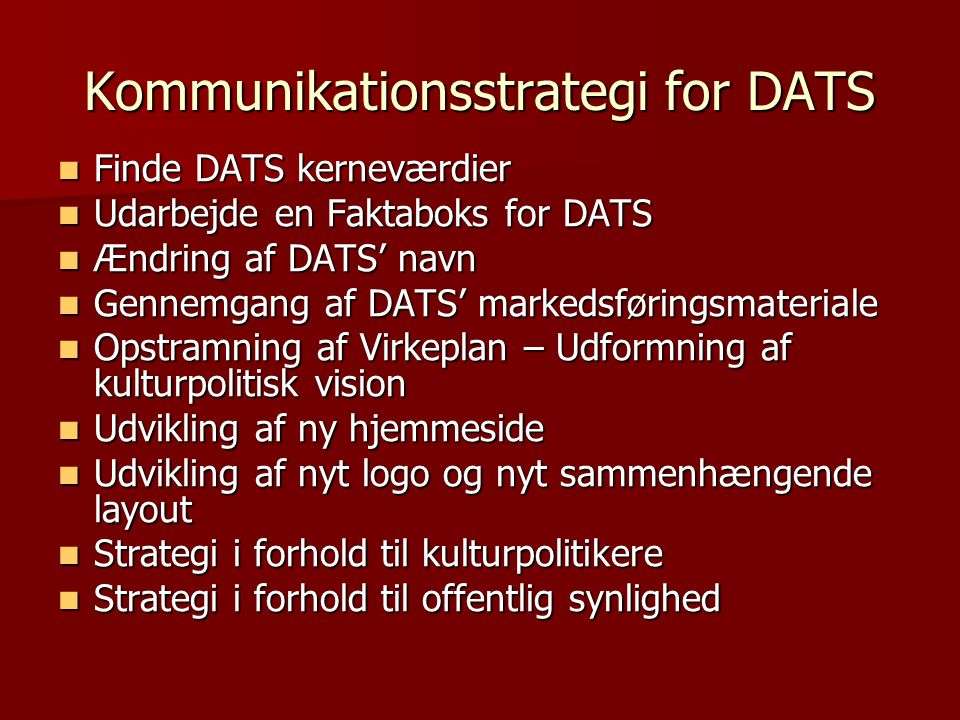 Kommunikationsstrategi for DATS