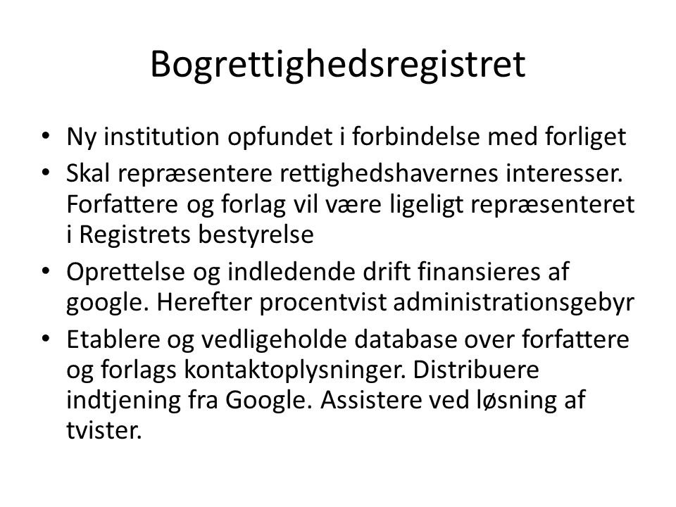 Bogrettighedsregistret