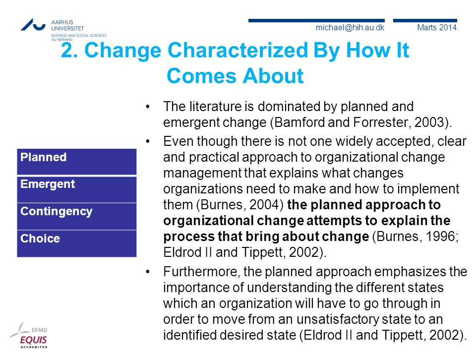 2. Change Characterized By How It Comes About