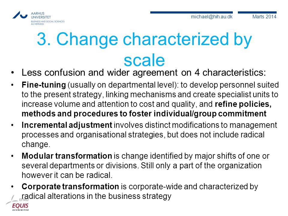 3. Change characterized by scale